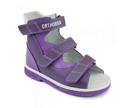 Ботинки летние для девочки арт.71057-01 фиолетовый - сиреневый