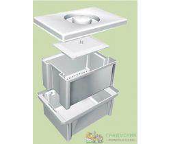 Емкость-контейнер полимерный для дезинфекции и предстерилизационной обработки медицинских изделий ЕДПО 1-01