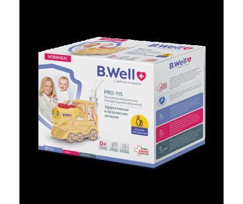 Компрессорный ингалятор для детей и взрослых B.Well PRO-115