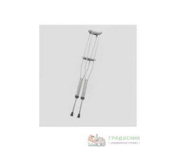 Костыли подмышечные алюминиевые с мягкими ручками (AMUC01)