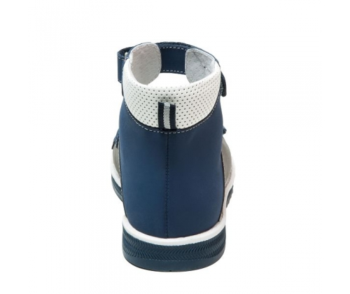 Ортопедические ботинки летние арт.71487-1 серо-синий