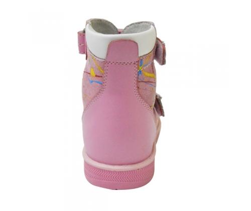 Ортопедические ботинки летние арт.71497-2 розовый с брызгами красок