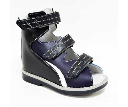 Ортопедические ботинки летние арт.71597-33 темно-синий-синий-белый