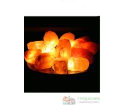 Солевая лампа «Огненная чаша», 15 камней.