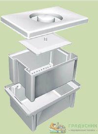 Емкость-контейнер полимерный для дезинфекции и предстерилизационной обработки медицинских изделий ЕДПО 5-01