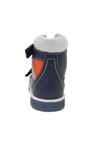 Ортопедические ботинки летние арт.71057-04 темно-синий с красным
