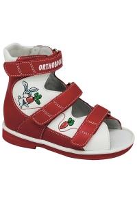 Ортопедические ботинки летние арт.71597-33 красно-белый