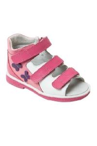 Ортопедические сандалии арт.43397-4 фуксия-розовый-белый
