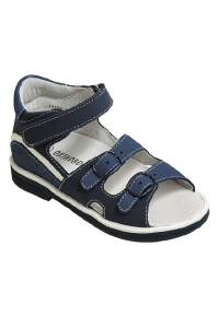 Ортопедические сандалии арт.43397-5 темно-синий-синий-белый