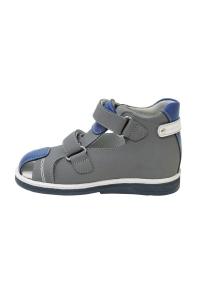 Ортопедические туфли летние арт.47387-8 серо-синий