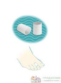 Защитные силиконовые колпачки для пальцев стопы «Тривес» Ст-45